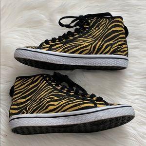 Adidas Tiger Stripe Mid Top Sneakers